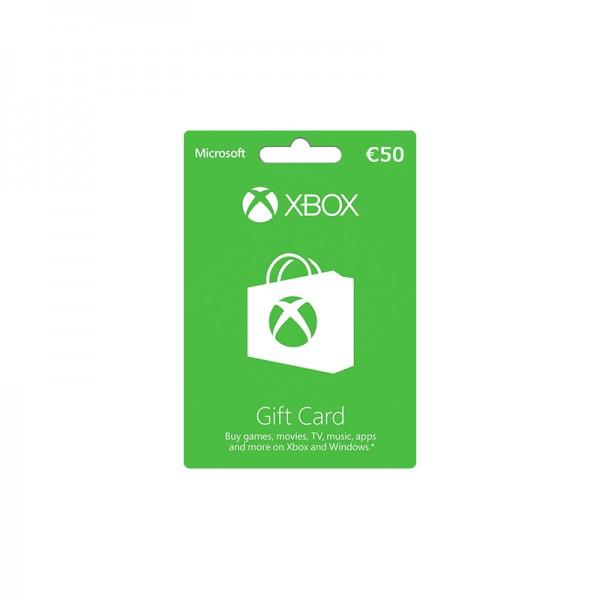 Microsoft XBOX Gift Card 50€ - Cartes Cadeaux Maroc