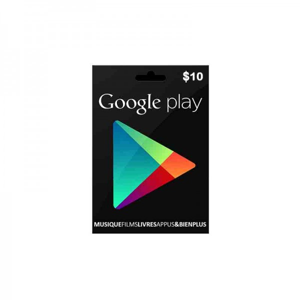 Carte Google Play 10$ - Cartes Cadeaux Maroc