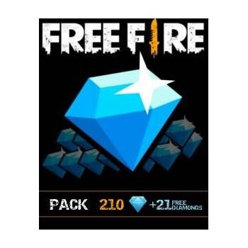210 Free Fire Diamonds + 21 Gratuit - Cartes Cadeaux Maroc