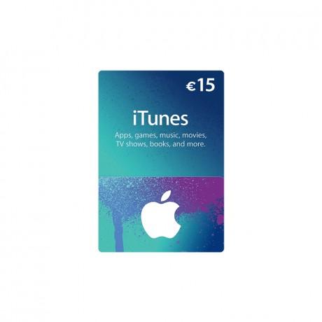 Carte Apple Store & Itunes 15€