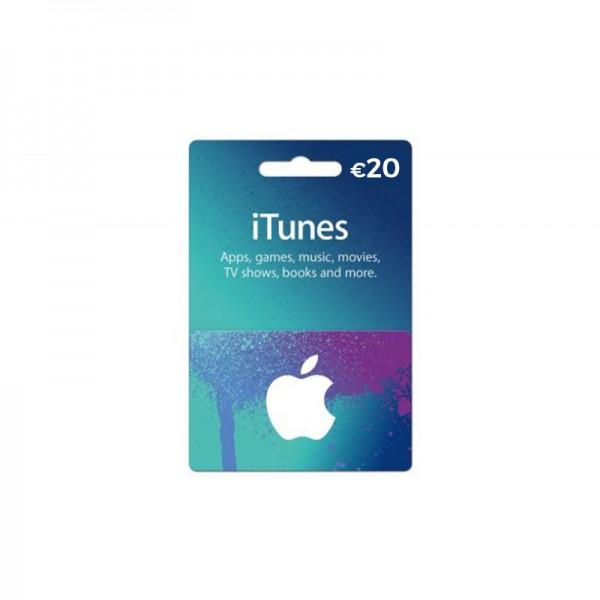 Carte Itunes App Store 20€ - Cartes Cadeaux Maroc