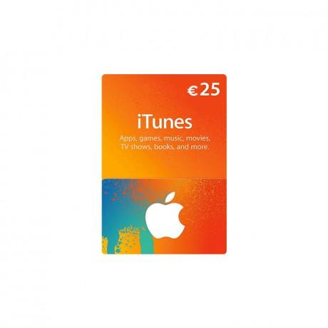 Carte Itunes App Store 25€