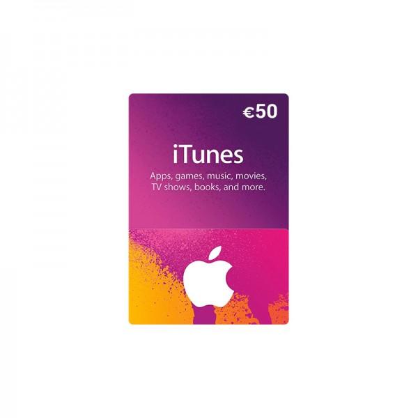 Carte Itunes App Store 50€ - Cartes Cadeaux Maroc