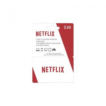 Abonnement Netflix 30$ - Cartes Cadeaux Maroc