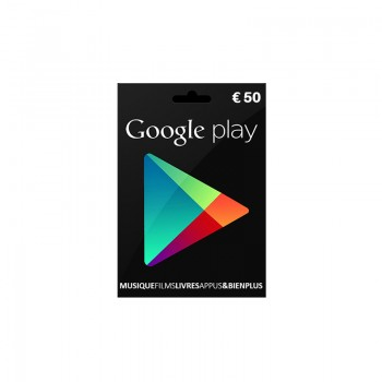 Carte Google Play 50€ - Cartes Cadeaux Maroc