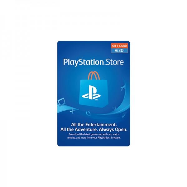 Carte PSN Playstation Network 30€ - Cartes Cadeaux Maroc