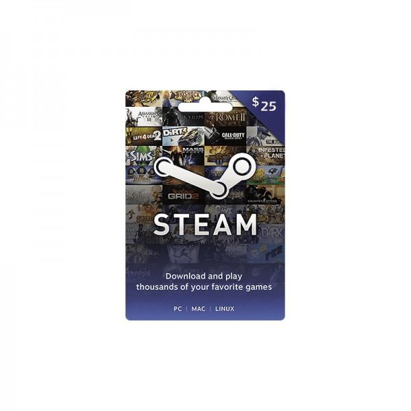 Carte Wallet Steam 25$ - Cartes Cadeaux Maroc
