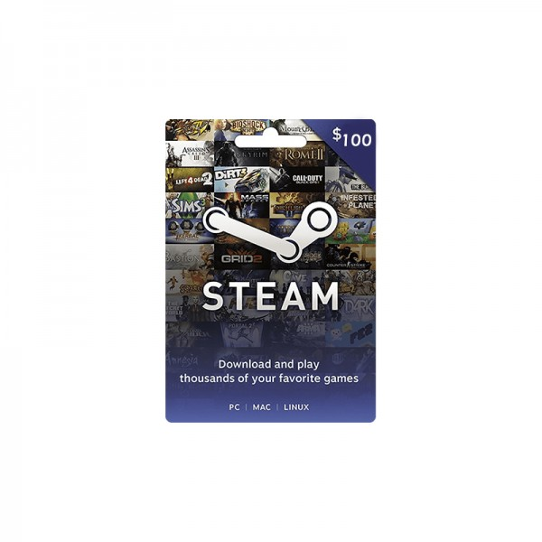 Gift Card Steam Wallet 100$ - Cartes Cadeaux Maroc