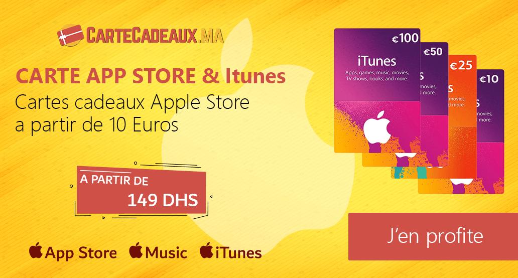 Carte apple store et itunes - Carte Cadeaux Maroc